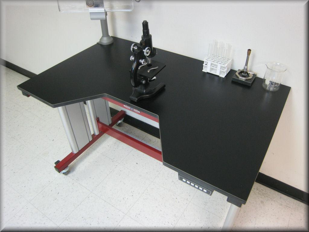 Adjustable Height Laboratory Table