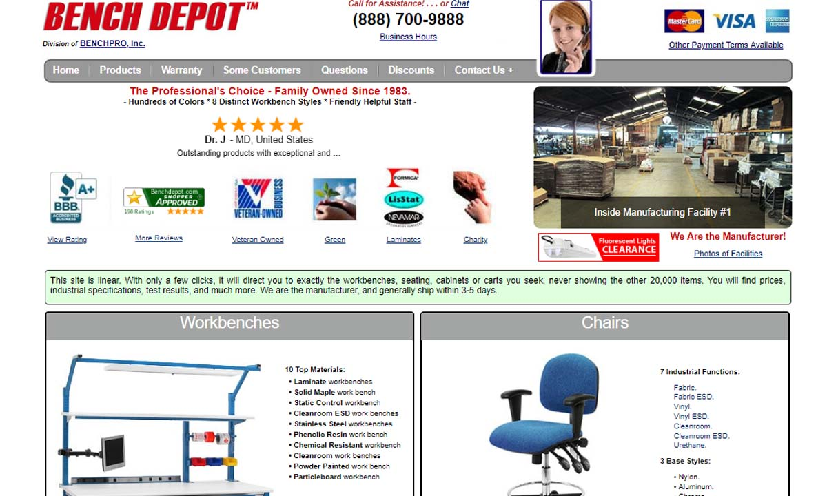 BenchPro, Inc.- ESD Tables