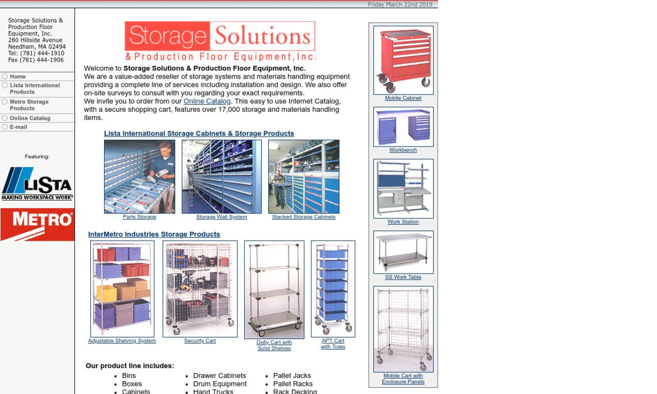 Storage Solutions & Production Floor Equipment, Inc.